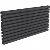 Reina Nevah Double Designer Horizontal Radiator 590mm H x 1200mm W Anthracite