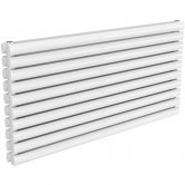 Reina Nevah Double Designer Horizontal Radiator 590mm H x 1200mm W RAL