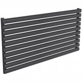 Reina Nevah Single Designer Horizontal Radiator 590mm H x 1200mm W Anthracite