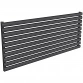 Reina Nevah Single Designer Horizontal Radiator 590mm H x 1400mm W Anthracite