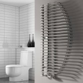 Reina Nola Designer Heated Towel Rail 1400mm H x 600mm W Chrome