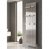 Reina Polito Vertical Aluminium Radiator 1800mm H x 332mm W Polished