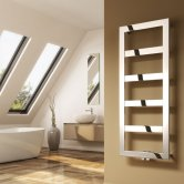 Reina Rima Designer Heated Towel Rail 780mm H x 500mm W Chrome Stainless Steel