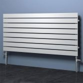 Reina Rione Single Designer Horizontal Radiator 550mm H x 1200mm W White
