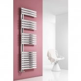 Reina Scalo Designer Heated Towel Rail 1535mm H x 500mm W Polished Stainless Steel
