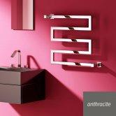 Reina Serpe Designer Heated Towel Rail 510mm H x 500mm W Anthracite