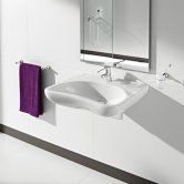 Roca Access Wall Hung Basin 640mm W - 1 Tap Hole