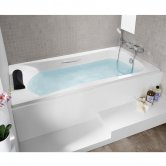 Roca Carla Single Ended Steel Bath with Grip Holes - 1600mm x 700mm - 2 Tap Hole
