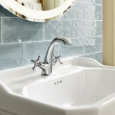 Roca Carmen Inset Countertop Basin 600mm Wide - 3 Tap Hole