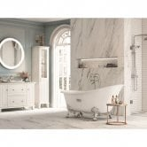 Roca Carmen Freestanding Anti-Slip Cast Iron Slipper Bath 1600mm x 800mm - White