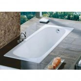 Roca Contesa Single Ended Steel Bath - 1500mm x 700mm - 0 Tap Hole