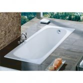 Roca Contesa Anti-Slip Single Ended Steel Bath - 1700mm x 700mm - 2 Tap Hole