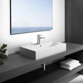 Roca Diverta Sit On Countertop Basin 600mm W - 1 Tap Hole