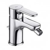Roca L20 Bidet Mixer Tap with Pop Up Waste - Chrome
