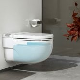 Roca Meridian-N In-Tank Wall-Hung Toilet with Cistern L Support - Soft Close Seat