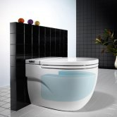 Roca Meridian-N In-Tank Back to Wall Toilet with Integrated Cistern - Soft Close Seat