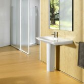 Roca Nexo Asymmetrical Right Handed Basin & Full Pedestal 900mm Wide 1 Tap Hole
