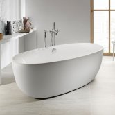 Roca Virginia Freestanding Acrylic Bath with Waste Kit 1700mm x 800mm 0 Tap Hole