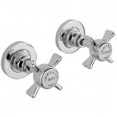 Sagittarius Churchmans Side Valves, Wall Mounted, Chrome