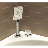 Sagittarius Kubic 2-Way Diverter and Shower Handset Bath Mounted - Chrome