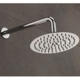 Sagittarius Morella Slim Fixed Shower Head and Arm, 200mm Diameter, Chrome