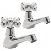 Sagittarius Victoria Basin Taps, Pair, Chrome