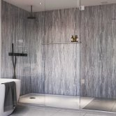 Showerwall Proclick MDF Shower Panel 600mm Wide x 2440mm High - Blue Toned Stone