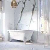 Showerwall Proclick MDF Shower Panel 600mm Wide x 2440mm High - Bianco Carrara