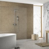 Showerwall Proclick MDF Shower Panel 600mm Wide x 2440mm High - Cappuccino Marble