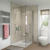 Showerwall Proclick MDF Shower Panel 600mm Wide x 2440mm High - Ivory Marble
