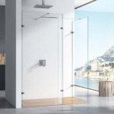 Orbit 10mm Walk-In Shower Enclosure with Deflector Panel 1100mm x 700mm (600mm+700mm)