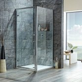 Signature 8mm Hinged Shower Door 700mm Wide