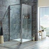Orbit 8mm Hinged Shower Door 700mm Wide