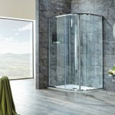 Signature 8mm Double Door Offset Quadrant Shower Enclosure 900mm x 760mm