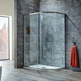 Signature 8mm Single Door Offset Quadrant Shower Enclosure 900mm x 760mm