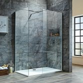 Orbit 8mm Walk-In Shower Enclosure 1400mm x 900mm (760mm+900mm Clear Glass)