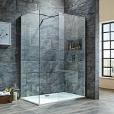 Orbit 8mm Walk-In Shower Enclosure 1100mm x 700mm (600mm+700mm Clear Glass)
