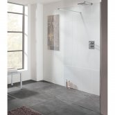 Lakes Cannes Walk-In Shower Panel 200mm Wide - 8mm Glass
