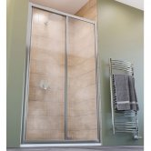 Lakes Classic Framed Sliding Shower Door 1850mm H x 1000mm W - 6mm Glass