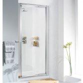 Lakes Classic Framed Pivot Shower Door 1850mm H x 700mm W - 6mm Glass