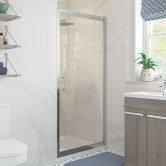 Signature Classix Infold Shower Door 760mm Wide - 6mm Glass