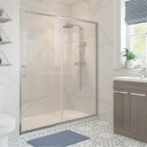 Signature Classix Sliding Shower Door 1500mm Wide - 6mm Glass