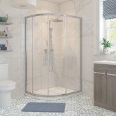 Signature Classix Double Door Offset Quadrant Shower Enclosure 1000mm x 800mm - 6mm Glass