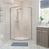 Signature Classix Single Door Quadrant Shower Enclosure 800mm x 800mm - 6mm Glass