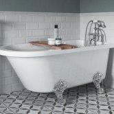 Signature Clevedon Freestanding Bath 1500mm x 750mm - 2 Tap Hole