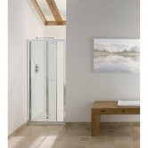 Signature Contract Bi-Fold Shower Door 1830mm H x 700mm W - 6mm Glass