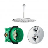 Signature Emotion Plus Thermostatic Concealed Mixer Shower with Round Shower Head and Ceiling Arm