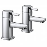 Signature Fonte Basin Taps Pair - Chrome