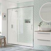 Signature Inca6 Sliding Shower Door 1400mm Wide - 8mm Glass