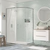 Signature Inca6 Single Door Offset Quadrant Shower Enclosure 1200mm x 800mm - 8mm Glass